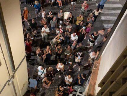 Manifestazione no-vax a Pesaro