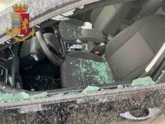 Automobile danneggiata