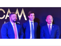 Carloni, Acquaroli e Catelli al MICAM 2021 di Milano