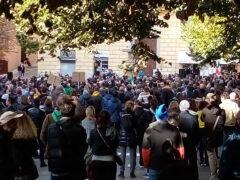 Manifestazione No Green Pass ad Ancona